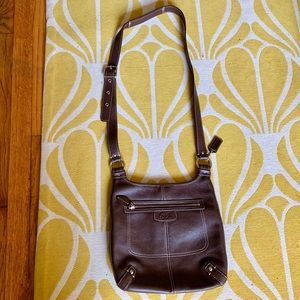 Coach crossbody bag in coco brown leather